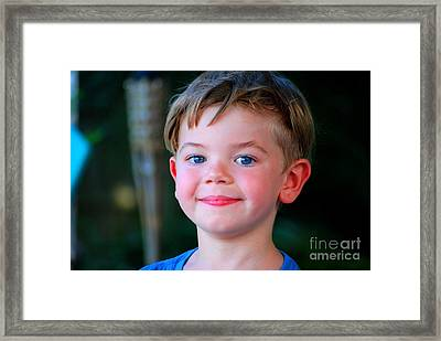 Tyler Framed Print by Monica Poole