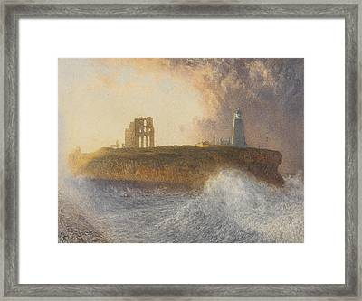 Tynemouth Pier Framed Print by Alfred William Hunt