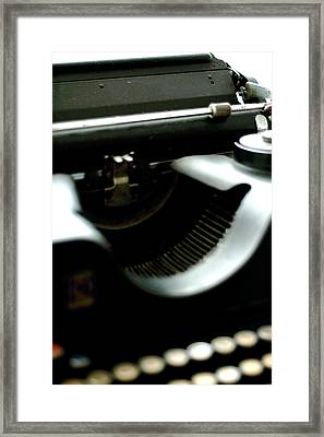 Typewriter '30s Framed Print by Massimo Calmonte (www.massimocalmonte.it)
