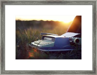 Typewriter Framed Print by Caiti Borruso