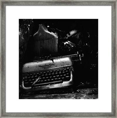 Typewriter Framed Print by Eric Tadsen