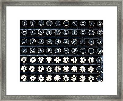 Typewriter Keyboard Framed Print