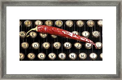 Typewriter Keys Xt Framed Print by Falko Follert