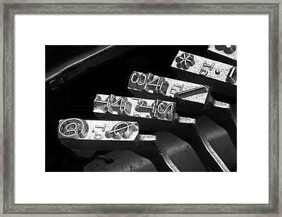 Typewriter Symbols Framed Print by Tom Mc Nemar