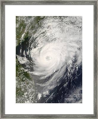 Typhoon Neoguri Approaching China Framed Print