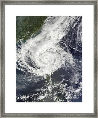 Typhoon Parma Re-approaching Framed Print