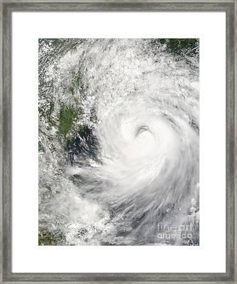 Typhoon Prapiroon Framed Print by Stocktrek Images