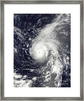 Typhoon Vamco In The Pacific Ocean Framed Print by Stocktrek Images