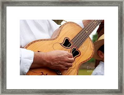 Typical Azores Guitar Framed Print by Gaspar Avila