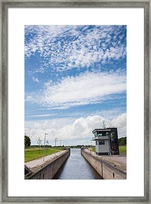 Typical Dutch Lock And Control Room Framed Print by Semmick Photo