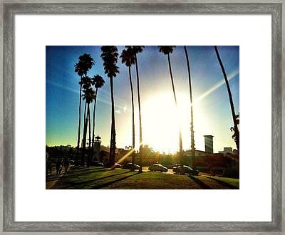 Typical Santa Barbara Framed Print by Raven Janush