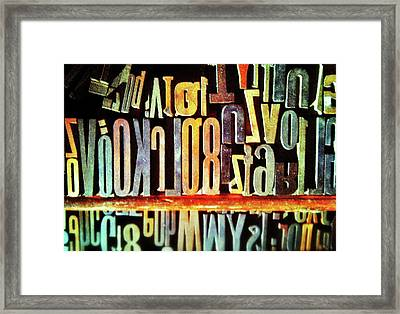 Typography Framed Print by Olivier Calas