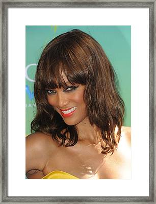 Tyra Banks At Arrivals For 2011 Teen Framed Print by Everett