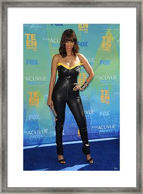 Tyra Banks Wearing A Thierry Mugler Framed Print