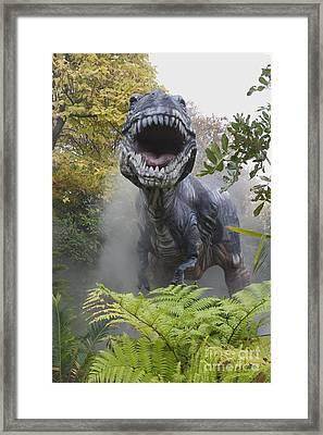 Tyrannosaurus Framed Print by David Davis and Photo Researchers