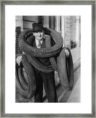 Tyred Out Framed Print by Fox Photos