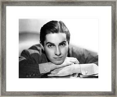 Tyrone Power, 20th Century-fox, 1937 Framed Print by Everett