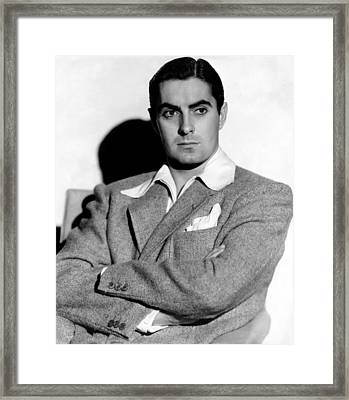 Tyrone Power In The 1940s Framed Print