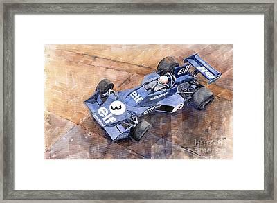 Tyrrell Ford 007 Jody Scheckter 1974 Swedish Gp Framed Print by Yuriy  Shevchuk
