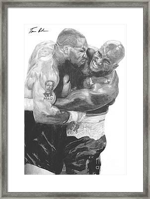 Tyson Vs Holyfield Framed Print