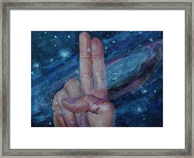 U Is For Universe Framed Print