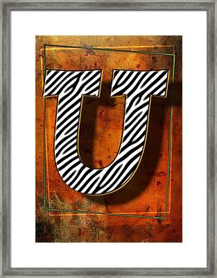U Framed Print by Mauro Celotti