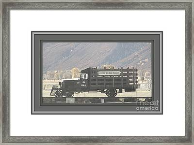 U. S. Mail N Rail Framed Print