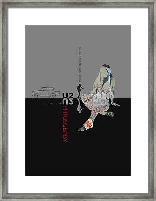 U2 Poster Framed Print by Naxart Studio