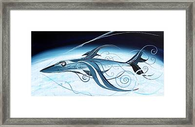 U2 Spyfish - Spy Plane As Abstract Fish - Framed Print by J Vincent Scarpace