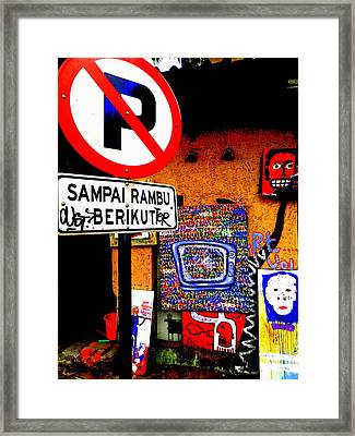 Ubud Art Street  Framed Print by Funkpix Photo Hunter