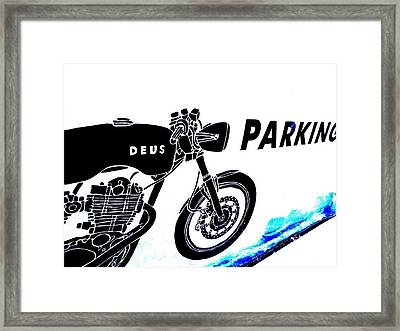 Ubud Motorbike Parking  Framed Print by Funkpix Photo Hunter