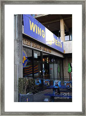 Uc Berkeley . Bears Lair Pub . 7d10163 Framed Print by Wingsdomain Art and Photography