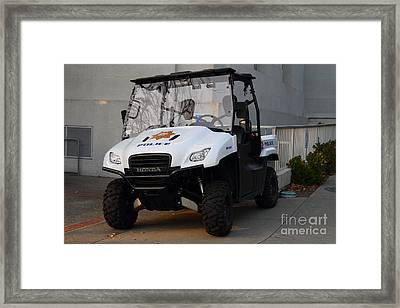 Uc Berkeley Campus Police Buggy  . 7d10184 Framed Print