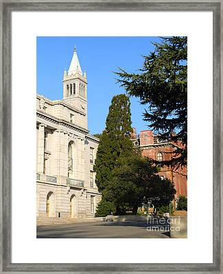 Uc Berkeley . Sather Tower Campanile . Wheeler Hall . South Hall Built 1873 . 7d10040 Framed Print by Wingsdomain Art and Photography