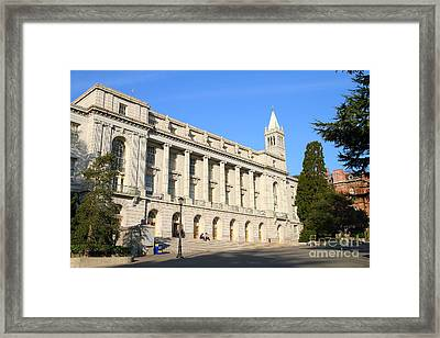 Uc Berkeley . Sather Tower Campanile . Wheeler Hall . South Hall Built 1873 . 7d10043 Framed Print by Wingsdomain Art and Photography