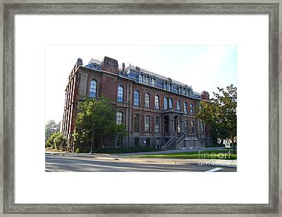 Uc Berkeley . South Hall . Oldest Building At Uc Berkeley . Built 1873 . 7d10100 Framed Print by Wingsdomain Art and Photography