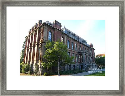 Uc Berkeley . South Hall . Oldest Building At Uc Berkeley . Built 1873 . 7d10103 Framed Print by Wingsdomain Art and Photography