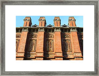 Uc Berkeley . South Hall . Oldest Building At Uc Berkeley . Built 1873 . 7d10109 Framed Print by Wingsdomain Art and Photography