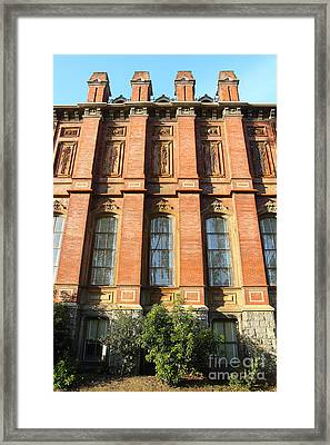 Uc Berkeley . South Hall . Oldest Building At Uc Berkeley . Built 1873 . 7d10111 Framed Print by Wingsdomain Art and Photography