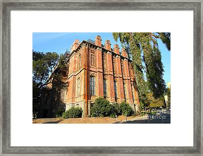 Uc Berkeley . South Hall . Oldest Building At Uc Berkeley . Built 1873 . 7d10113 Framed Print by Wingsdomain Art and Photography