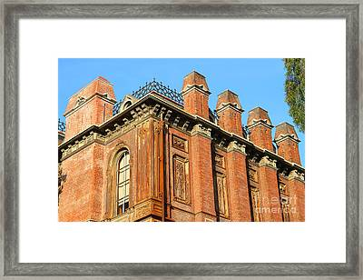Uc Berkeley . South Hall . Oldest Building At Uc Berkeley . Built 1873 . 7d10114 Framed Print by Wingsdomain Art and Photography