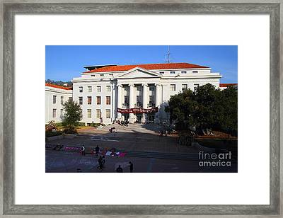 Uc Berkeley . Sproul Hall . Sproul Plaza . Occupy Uc Berkeley . 7d10004 Framed Print by Wingsdomain Art and Photography