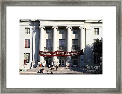 Uc Berkeley . Sproul Hall . Sproul Plaza . Occupy Uc Berkeley . 7d9991 Framed Print by Wingsdomain Art and Photography