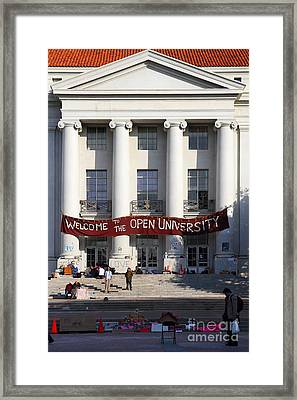 Uc Berkeley . Sproul Hall . Sproul Plaza . Occupy Uc Berkeley . 7d9992 Framed Print by Wingsdomain Art and Photography