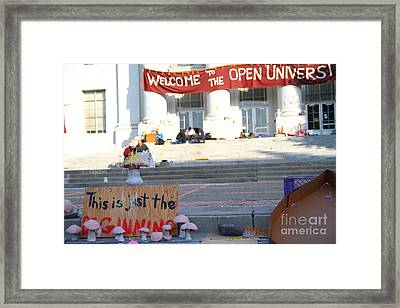 Uc Berkeley . Sproul Hall . Sproul Plaza . Occupy Uc Berkeley . The Is Just The Beginning . 7d10018 Framed Print by Wingsdomain Art and Photography