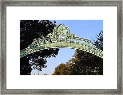 Uc Berkeley . Sproul Plaza . Sather Gate . 7d10031 Framed Print
