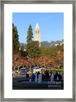 Uc Berkeley . Sproul Plaza . Sather Gate . 7d9998 Framed Print by Wingsdomain Art and Photography