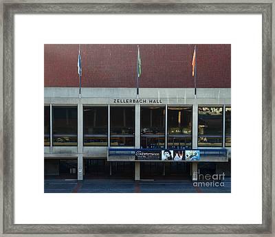 Uc Berkeley . Zellerbach Hall . 7d10013 Framed Print by Wingsdomain Art and Photography