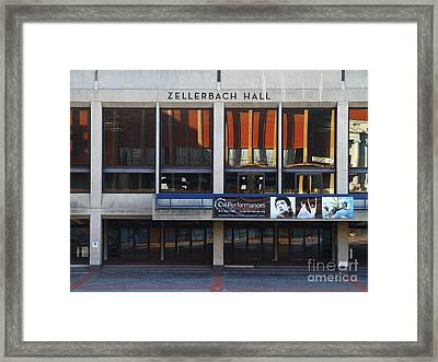 Uc Berkeley . Zellerbach Hall . 7d9989 Framed Print