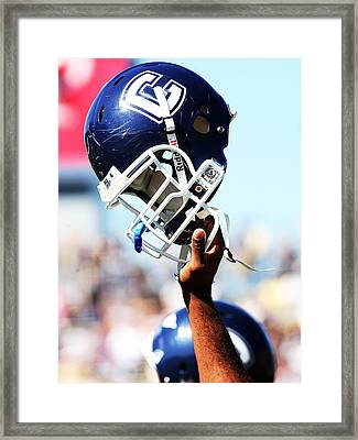 Uconn Helmet  Framed Print by University of Connecticut